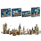 LEGO Harry Potter Gran Comedor de Hogwarts (75954) + Sauce Boxeador (75953) + Torre del Reloj (75948) + Torre de Astronomía (75969) con Minifiguras de Harry Potter