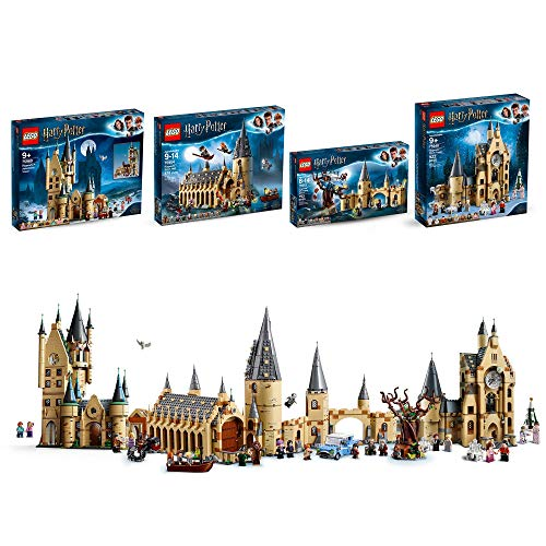 LEGO Harry Potter Hogwarts Castle Clock Tower Toy with Great Hall Castle Toy with Whomping Willow Toy Hogwarts Castle Astronomy Tower Toy