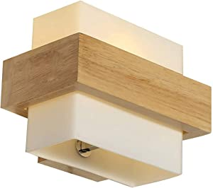 Lampe murale en bois pour chambre à coucher ou salle de bain - Bois