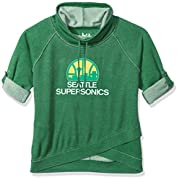 Officially licensed NBA hardwood classic Apparel 60% cotton/40% poly fleece in plus sizes Double layer funnel neck with Drawstring ties, Raglan sleeves, relaxed silhouette Burned-out, over-dyed fleece Pullover with cross-over detailing at front hem T...