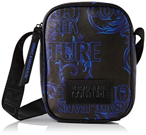 Versace Jeans Couture Herren Bag Schultertasche, Schwarz (899+335), 18x35x26 Centimeters