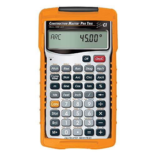 Calculated Industries Construction Calculator, 6 Lx3 1/4 In W (Renewed)
