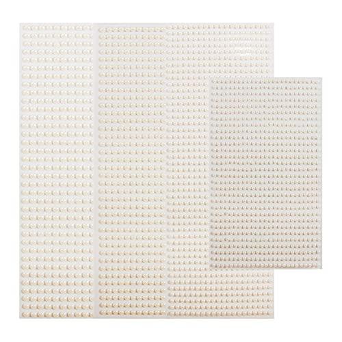 muziwenju PSGS 3mm/4mm/5mm/6mm 3D Pearl Face Jewels Eyeshadow Stickers Self Adhesive Face Body Eyebrow Diamond Nail Stickers Diamond Decoration (Color : 6mm 504pcs)