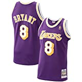 Ordioy Maglie da Basket NBA Los Angeles Lakers No.8 Kobe Bryant Classics Player Jersey Gilet Senza...