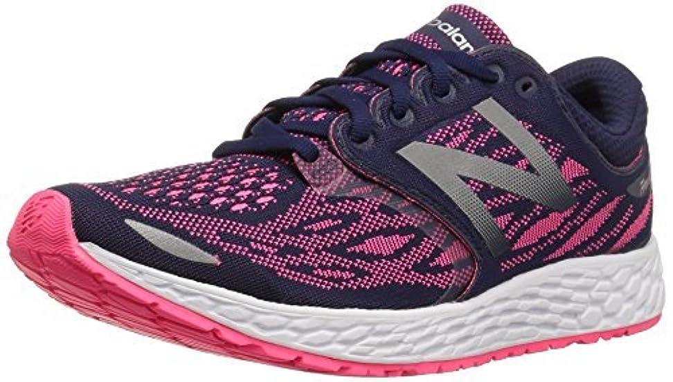 ブレース週末登るNew Balance Women's ZANTEV3 Running Shoe Dark Denim/Alpha Pink 6 B US [並行輸入品]