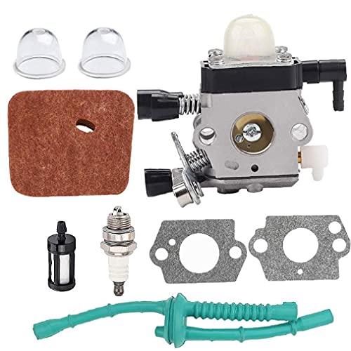 Cortacésped del césped Carburador, Trimmer de Cadena Kit de carburador de carburador Carb Reemplazo Compatible con Sthil FS38 FS45 FS46 FS55 KM55 FS85 Edger