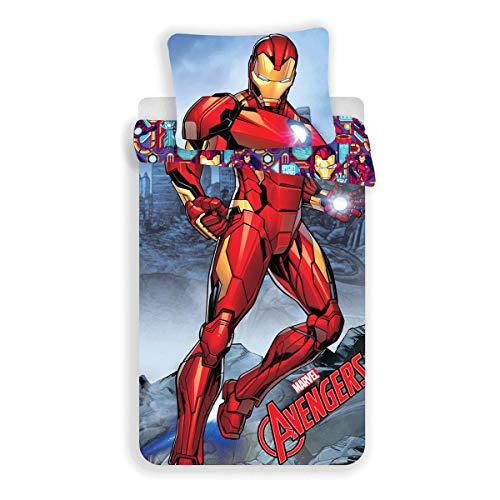 Jerry Fabrics Bettwäsche-Set 140x200 + 70x90cm Iron-Man
