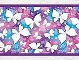 Cenefa autoadhesivo habitación de los niños cenefa Mariposas Pared Decoración n