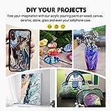 Magicfly Pouring Acrylfarbe, 31 flüssige Gießfarben 36×60 ml Flaschen für Leinwand, Holz, Stein, Glas, ideal für Kunstwerke, DIY-Projekt - 5