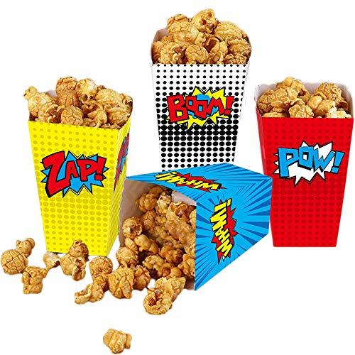 yizeda Scatole di Popcorn da 24 Pezzi per i favori di Supereroi,...