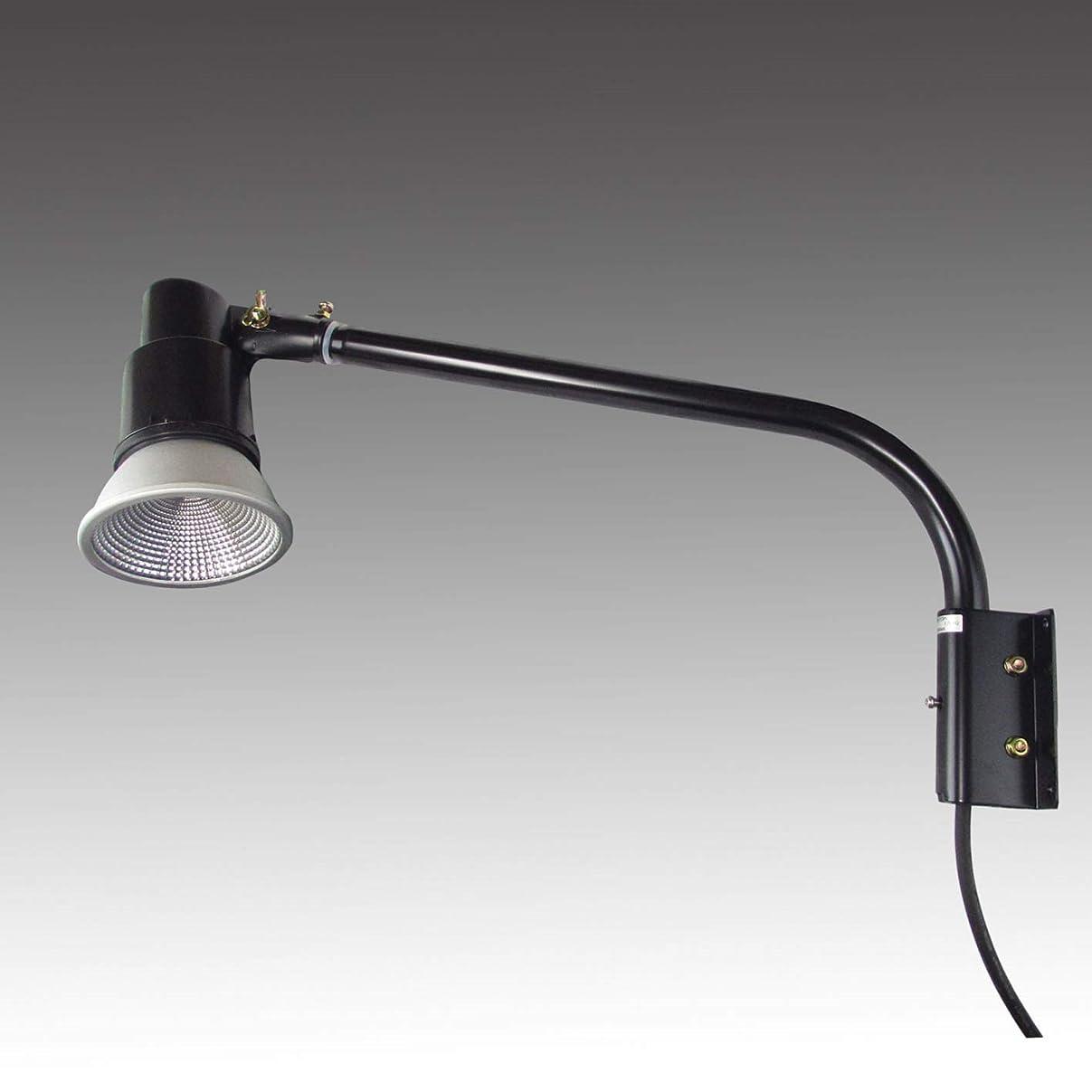 フレッシュ調べるサイクル【2年保証】屋外用LEDライト12W120W相当形+ショートアームセット(本体色:ブラック アーム長465mm) (2800K電球色)
