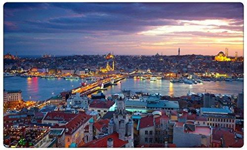 Istanbul Türkei Skyline Wandtattoo Wandsticker Wandaufkleber R1032 Größe 70 cm x 110 cm