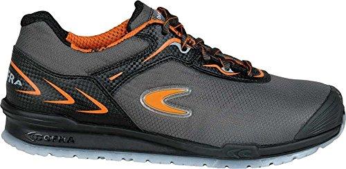 COFRA Moderner Sicherheitshalbschuh Click S1P SRC im Sneakerlook Running Reihe (44, grau)