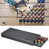 Evonecy Soporte para cápsulas, Soporte para cápsulas de café, diseño de cajón Deslizante para Cocina casera, Barra, mostrador para café(Black, YZ1384 Black)
