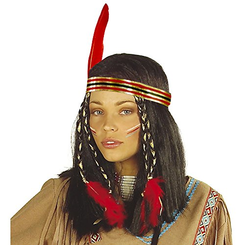 Widmann A6140 Pruik Lamp Indianer, meerkleurig, één maat