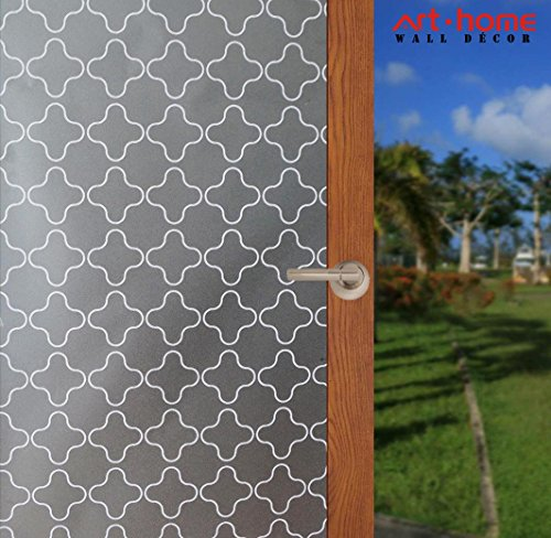 Arthome Frosted Window Film Privacy Film No Gule Static Cling Anti UV Heat Control for Home Kitchen Office Living Room Bathroom Bedroom 17.7