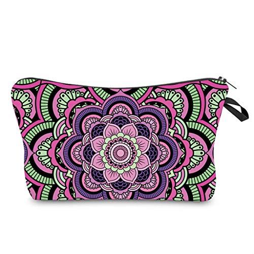 Angel&J Bolsa de viaje de maquillaje portátil cosmético lindo bolso Ins gran capacidad bolso cremallera bolsa flor mujer organizador titular