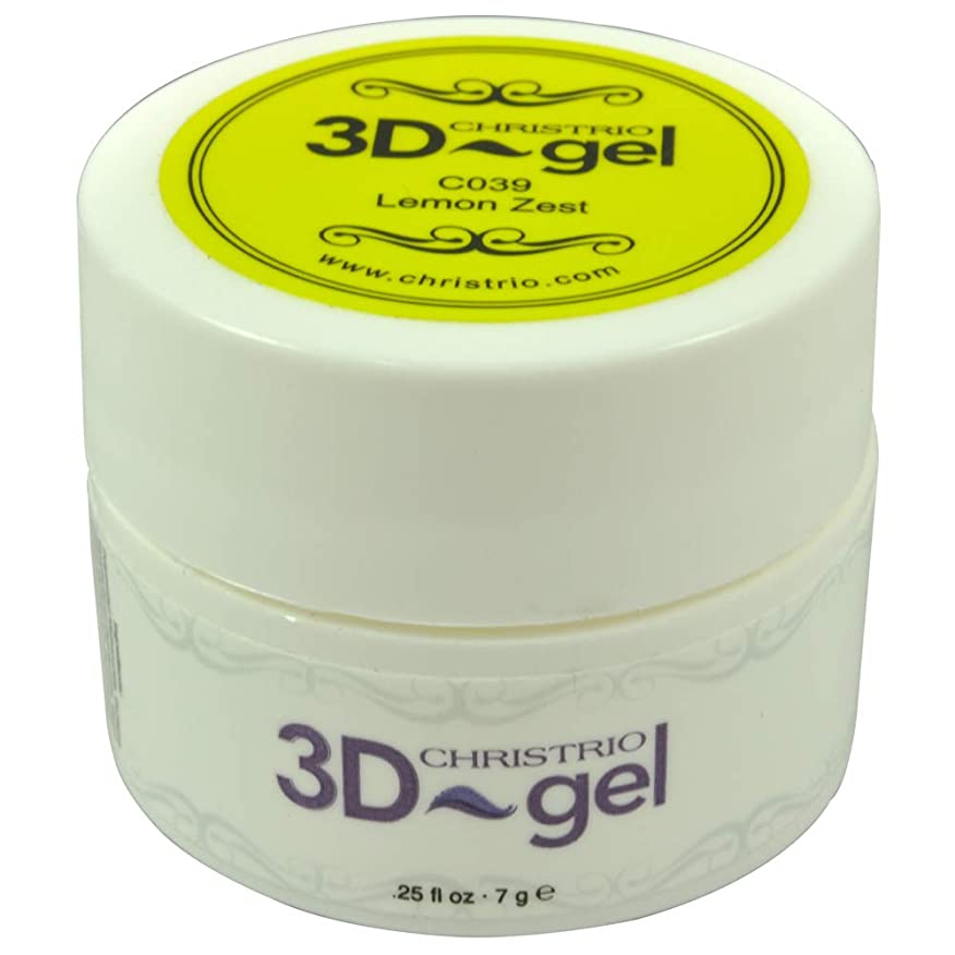 飾る展示会知性CHRISTRIO 3Dジェル 7g C039 レモンゼスト