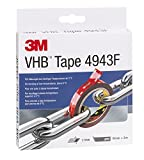 3M VHB 7000072434 Cinta Adhesiva para Bajas Temperaturas Por Encima de 0 °C, 19 mm X 3 m, 1.1 mm, 1unidad, Gris