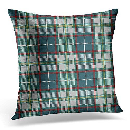 Awowee Funda de cojín de 50 cm x 50 cm, diseño de tartán tradicional escocés, muestras inspiradas en cuadros para decoración de Navidad adecuada para decoración del hogar, funda de cojín para sofá o silla y cama