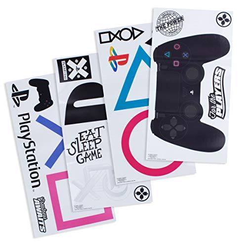 Paladone PP6581PS Playstation Vinyl Wandaufkleber | wasserdicht und abnehmbar | 22 Aufkleber für Gamer, Mehrfarbig
