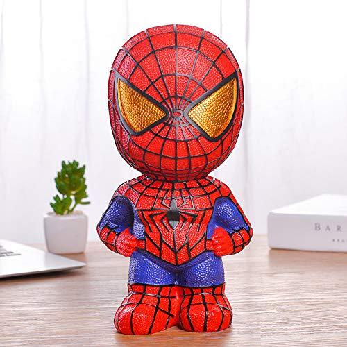 XKMY Tirelire en forme de cochon Marvel Avengers Marvel Avengers Spiderman Iron Man Captain Décoration de la maison Cadeaux d'anniversaire pour enfant (couleur : Spiderman)