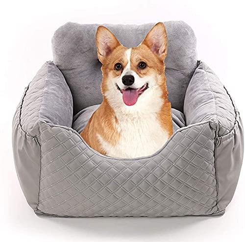 Asiento de coche LTCTL para perros, asiento elevador para gatos, asiento de seguridad para mascotas, cama lavable para mascotas, tela con bolsa de almacenamiento para el asiento trasero y delantero de