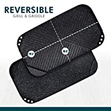 Catering Line Reversible Grill Griddle Pan | Nonstick, Fits Across Two Burners, Ridged Grill Side and Smooth Griddle Side, Dishwasher Safe, 19.5 Inch x 10.6 Inch