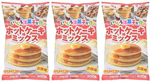 昭和 いろいろ洋菓子が作れるホットケーキミックス 800g×3個