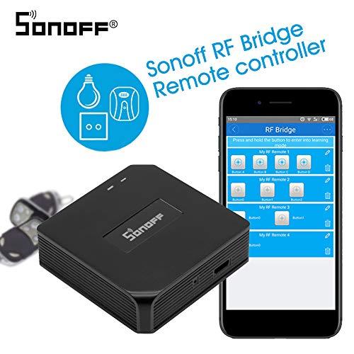 Kedelak RF Bridge 433MHZ Wifi Inalámbrico Inteligente Wi-Fi Controlador de RF remoto Interruptor del módulo de automatización para Smart Home Security Compatible con Alexa Google Home