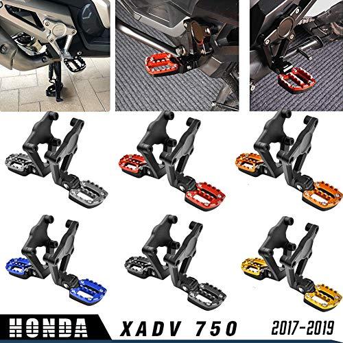 XX ecommerce pedane per moto, in alluminio, pieghe sul retro, pedane per passeggero per 2017-2019 X ADV XADV 750 17 18 19