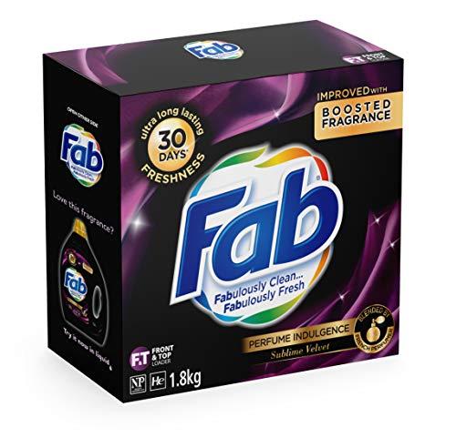 Fab Perfume Indulgence Sublime Velvet, Laundry Powder Washing Detergent, (packaging may vary), 1.8 Kilograms