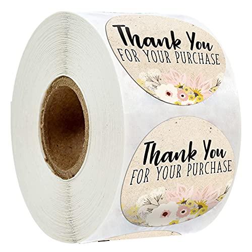 Klistermärke 500 st Tack för ditt köp Klistermärke Tätning Etikett Mitt Småföretag Handgjorda Paketpapper Klistermärke Presentkort Etikettklistermärke (Color : 500 pcs)