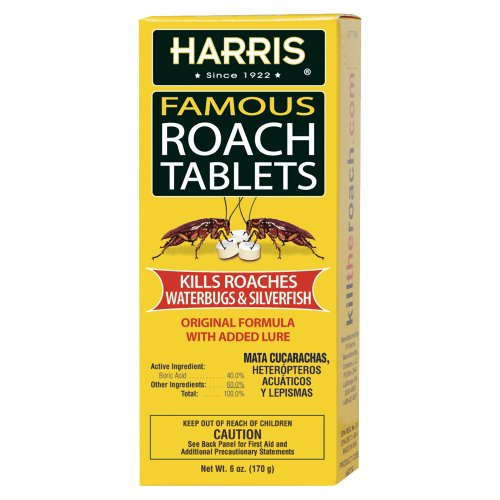 Harris Famous Roach & Silverfish Killer Tablets, 6 Oz.