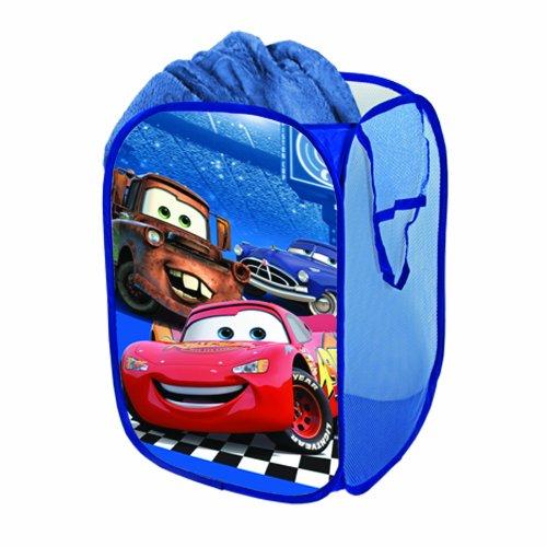"Price comparison product image Disney Cars Pop Up Hamper Blue 1'2"" x 1'2"" x 1'8"""