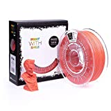 Print With Smile - Filamento 3D PLA, 1,75 mm, 500 g, 500 g, Orange, 18