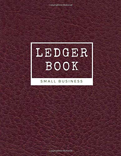 Ledger Book Small Business: Cash Book Log Accounts Bookkeeping Journal for Small Business - Record Income and Expenses - Easy Tracking - 100 pages