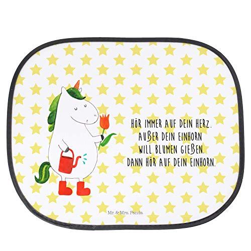 Mr. & Mrs. Panda Fenster, Auto, Auto Sonnenschutz Einhorn Gärtner mit Spruch - Farbe Weiß