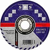 Disco de corte de SBS (acero inoxidable, 100 unidades, 125 x 1,0 mm)....