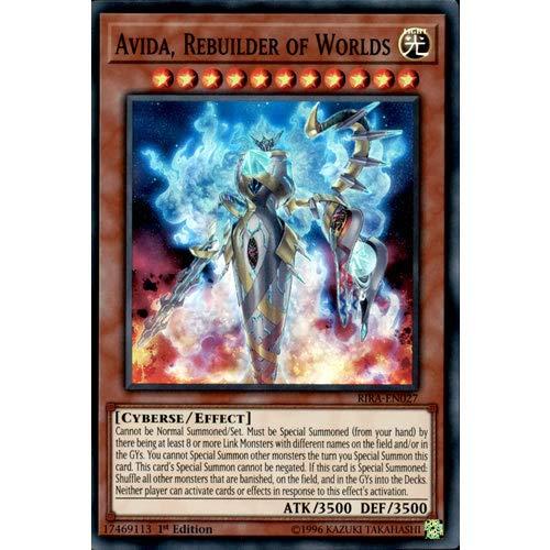 YuGiOh RIRA-EN027 1st Ed Avida, Rebuilder of Worlds Super Rare Card Rising Rampage
