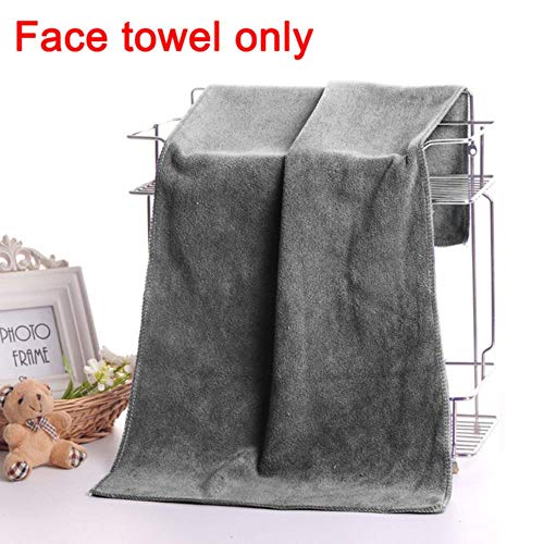 LASISZ Man Wearable Magic Bath Towe + Face Towel Set Mircofiber Fabric with Pocket Soft Swimming Beach Bath Towel Blanket Male Shower,Gray FaceX1pc,70x140cm