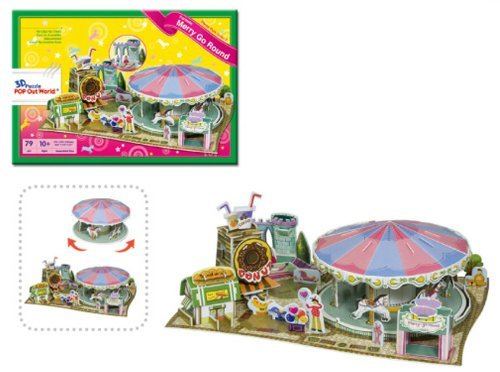 3D three-dimensional puzzle merry-go-round (japan import)