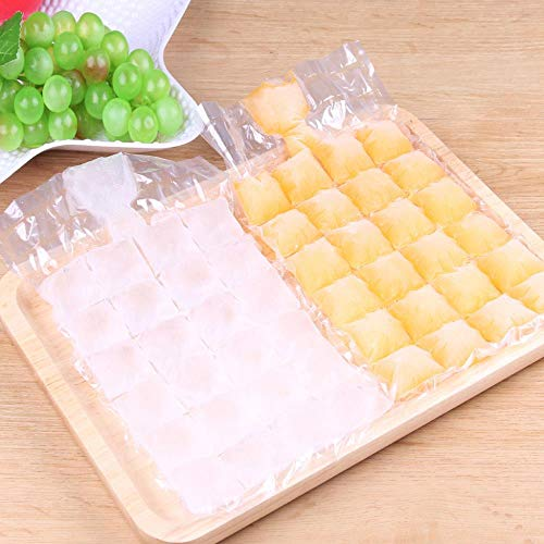 Ice Cube Tray 24 Grids Jetable Ice-Making Bags Frozen Ice Square Tray Mould Self Seal Ice Cream Tools 10Pcs