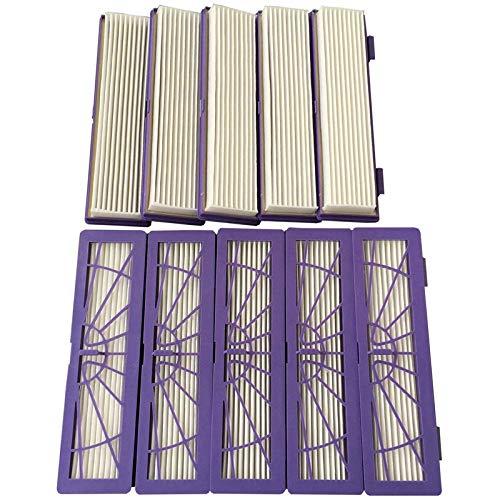 SODIAL 9-Pack Hepa Leistungsfilter Fuer alle Neato Botvac Serie Modelle 70e 75 80 85 D3 D5 Serie Staubsauger Ersatz Hepa Filter