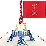 PopLife Cards Torre Eiffel, París 3d pop-up tarjeta de felicitación - todas las ocasiones