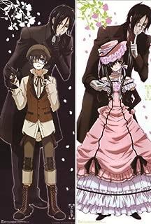Anime Kuroshitsuji Hugs Pillow Case Manga Cosplay Long Hugging Body Pillowcase (Peach Skin, HZW-1)
