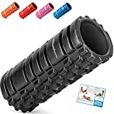Starwood Sports Foam Deep Tissue Massage-Trigger Point Therapy-Myofascial Release-Muscle Roller for Fitness, Crossfit, Yoga & Pilates, Black with Black Inner Core, 33 X 14 cm X 14 cm