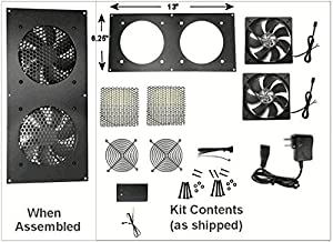 Coolerguys Dual 120mm fan kit with pre-set thermal controller CG-1202-P