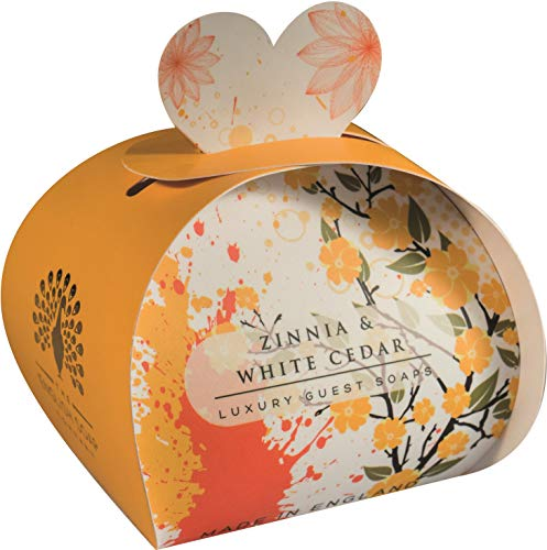 The English Soap Company, Luxury Packed Guest Soaps, Zinnia & White Cedar, 3x20g