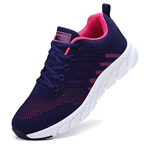 ZPAWDH Donna Scarpe da Ginnastica Sportive Sneakers Running Basse Basket Sport Outdoor Fitness Sneakers(Blue Red,40EU)
